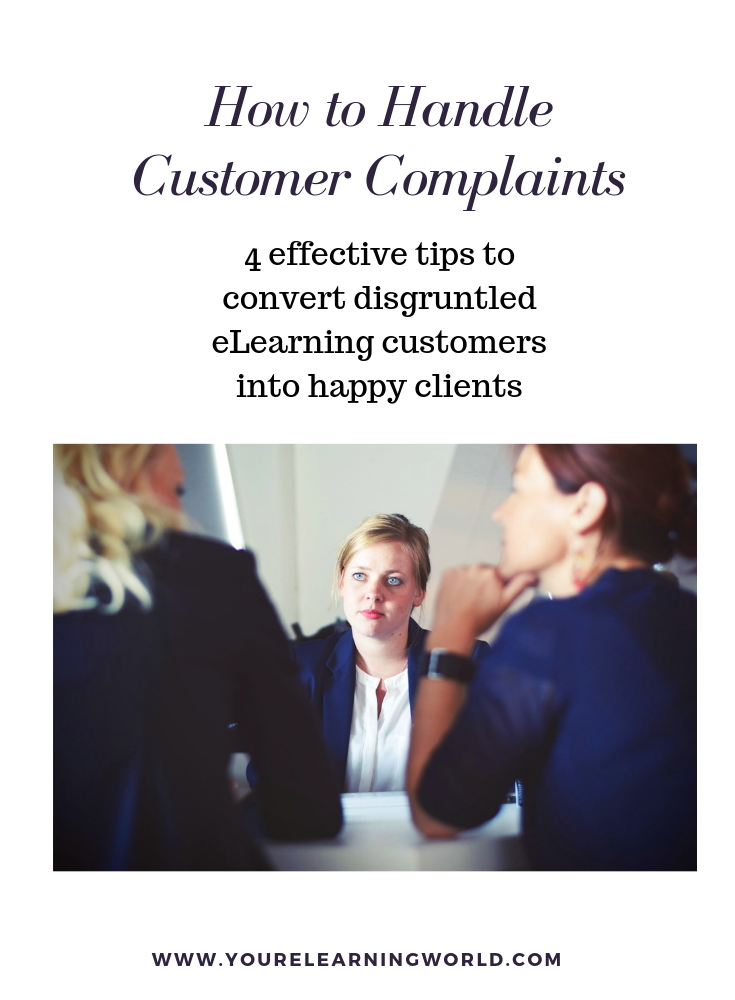 how to deal with eLearning customer complaints