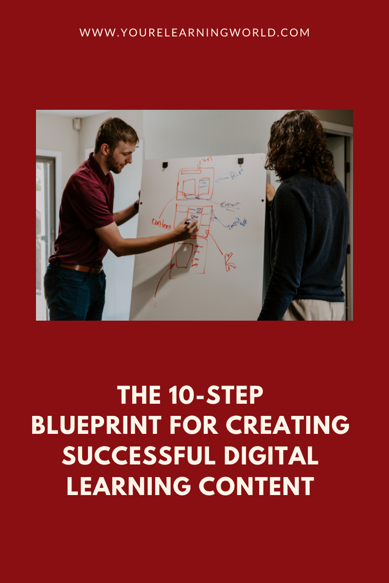 The 10-step blueprint for creating successful digital learning content