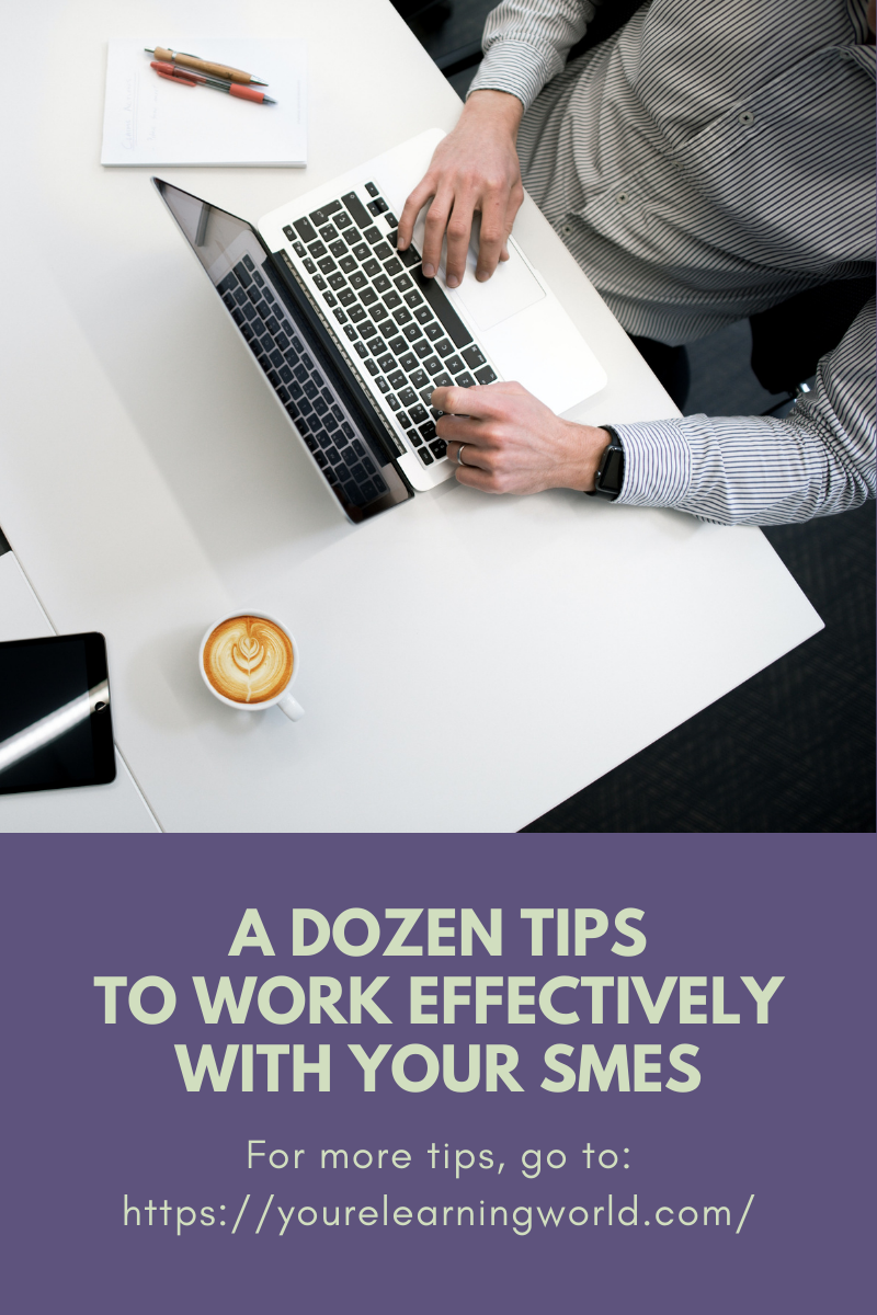 A Dozen Tips to Work Effectively with Your SMEs