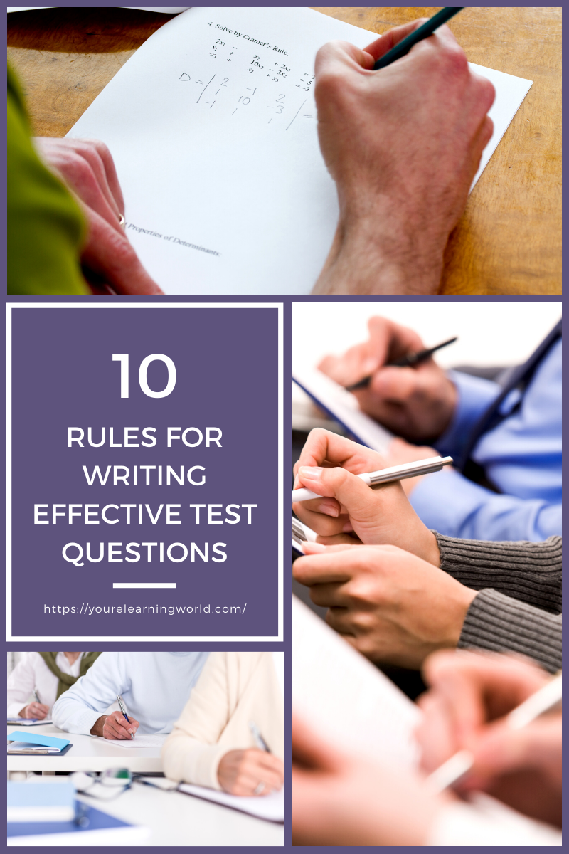 Rules for Writing Effective Test